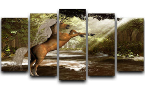 Forest Unicorn 5 Split Panel Canvas  - Canvas Art Rocks - 1