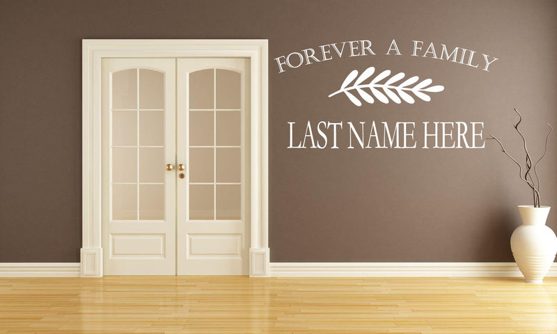 Forever A Family Wall Decal - Canvas Art Rocks - 1