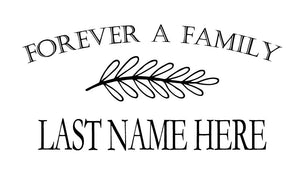 Forever A Family Wall Decal - Canvas Art Rocks - 2