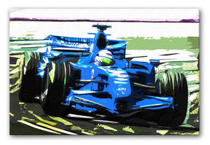Formula One Racing Car Print - Canvas Art Rocks - 4