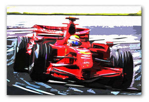 Formula One Racing Car Print - Canvas Art Rocks - 1