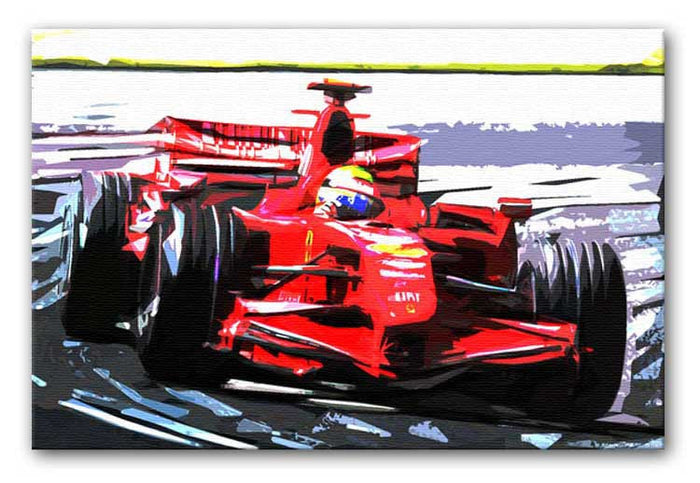 Formula One Racing Car Canvas Print or Poster
