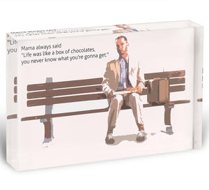 Forrest Gump Mama Said Acrylic Block - Canvas Art Rocks - 1