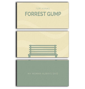 Forrest Gump Minimal Movie 3 Split Panel Canvas Print - Canvas Art Rocks - 1