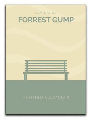 Forrest Gump Minimal Movie Canvas Print or Poster  - Canvas Art Rocks - 1