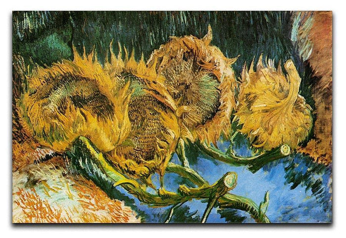 Four Cut Sunflowers by Van Gogh Canvas Print or Poster