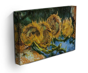 Four Cut Sunflowers by Van Gogh Canvas Print & Poster - Canvas Art Rocks - 3