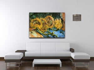 Four Cut Sunflowers by Van Gogh Canvas Print & Poster - Canvas Art Rocks - 4