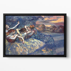 Four Dancers by Degas Floating Framed Canvas