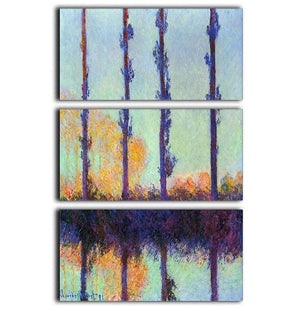 Four poplars by Monet 3 Split Panel Canvas Print - Canvas Art Rocks - 1