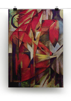 Foxes by Franz Marc Canvas Print or Poster - Canvas Art Rocks - 2