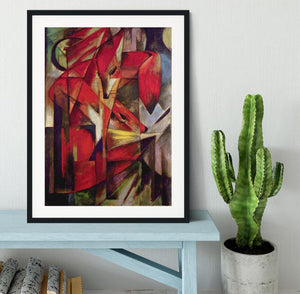 Foxes by Franz Marc Framed Print - Canvas Art Rocks - 1
