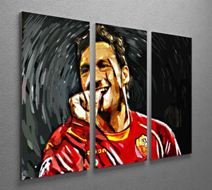 Francesco Totti 3 Split Panel Canvas Print - Canvas Art Rocks - 2