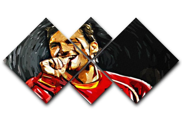 Francesco Totti 4 Square Multi Panel Canvas