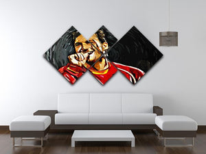 Francesco Totti 4 Square Multi Panel Canvas - Canvas Art Rocks - 3