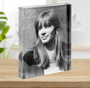 Francoise Hardy in 1965 Acrylic Block - Canvas Art Rocks - 2