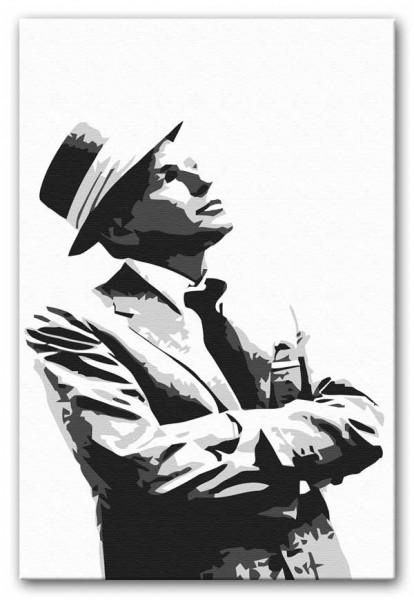 Frank Sinatra Black And White Canvas Print or Poster