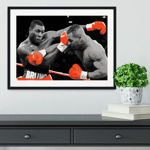 Frank Bruno Mike Tyson Framed Print - Canvas Art Rocks - 1