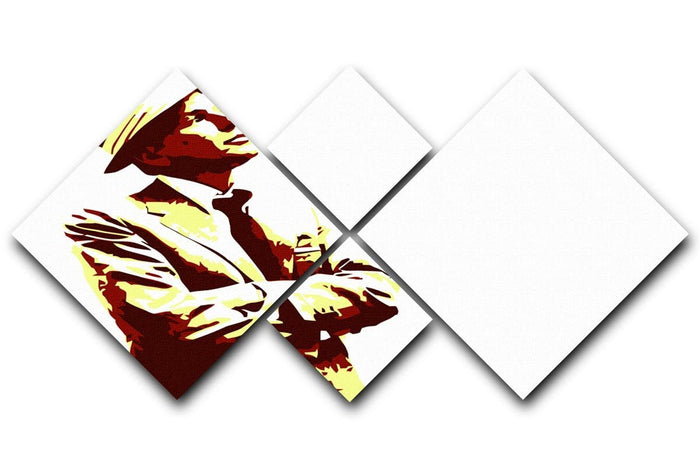 Frank Sinatra 4 Square Multi Panel Canvas
