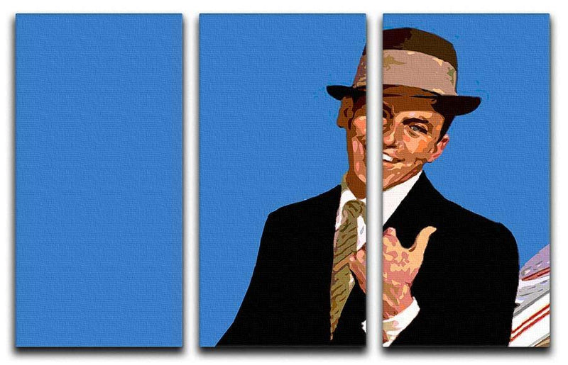Frank Sinatra Pop Art 3 Split Panel Canvas Print - Canvas Art Rocks - 1