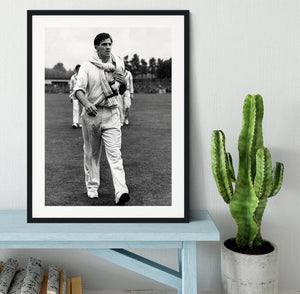 Fred Trueman 1954 Framed Print - Canvas Art Rocks - 1