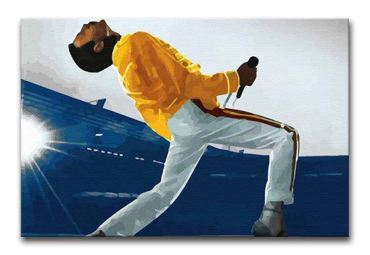 Freddie Mercury at Wembley Stadium Print - Canvas Art Rocks - 1