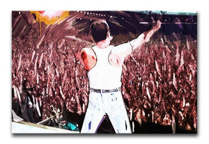 Freddie Mercury at Live Aid Print - Canvas Art Rocks - 1