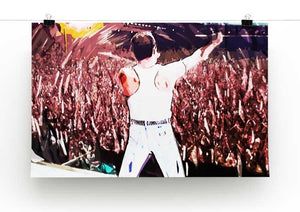 Freddie Mercury at Live Aid Print - Canvas Art Rocks - 2