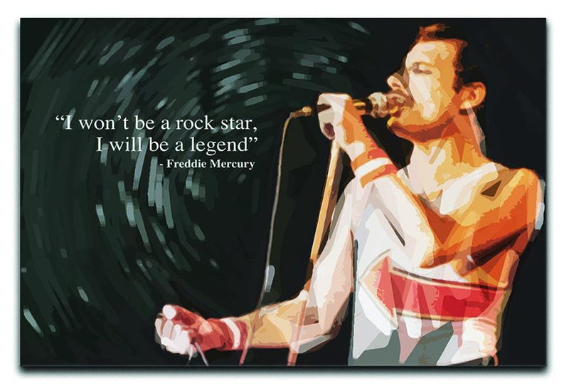 Freddie Mercury Rock Star Canvas Print or Poster  - Canvas Art Rocks - 1