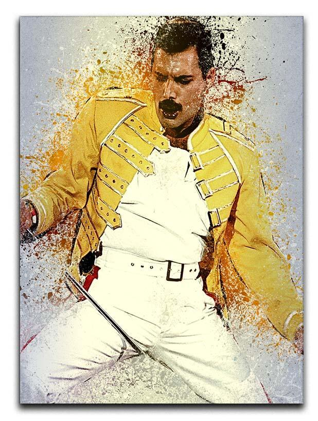 Freddie Mercury Splatter Canvas Print or Poster