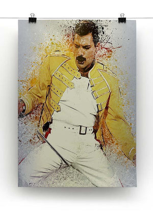 Freddie Mercury Splatter Canvas Print or Poster - Canvas Art Rocks - 2