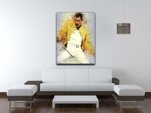 Freddie Mercury Splatter Canvas Print or Poster - Canvas Art Rocks - 4