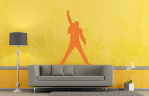 Freddie Mercury Wall Decal - Canvas Art Rocks