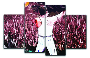 Freddie Mercury at Live Aid 4 Split Panel Canvas  - Canvas Art Rocks - 1