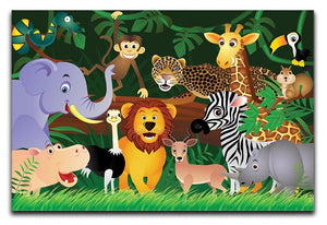 Frendly Animals in the jungle Canvas Print or Poster  - Canvas Art Rocks - 1