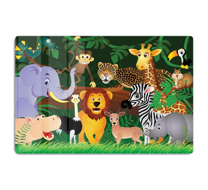 Frendly Animals in the jungle HD Metal Print