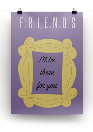 Friends Ill Be There For You Minimal Movie Canvas Print or Poster - Canvas Art Rocks - 2
