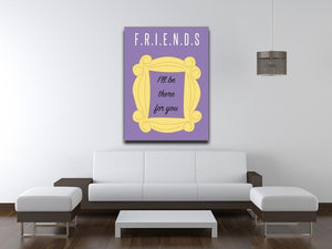 Friends Ill Be There For You Minimal Movie Canvas Print or Poster - Canvas Art Rocks - 4