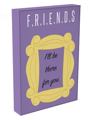 Friends Ill Be There For You Minimal Movie Canvas Print or Poster - Canvas Art Rocks - 3