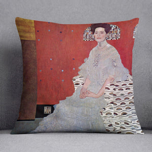Fritza Reidler Klimt Throw Pillow