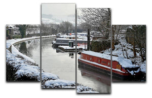 Frozen Canal 4 Split Panel Canvas - Canvas Art Rocks - 1