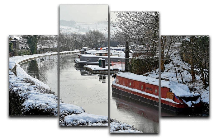 Frozen Canal 4 Split Panel Canvas