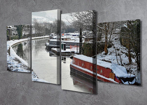 Frozen Canal 4 Split Panel Canvas - Canvas Art Rocks - 2