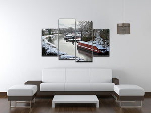 Frozen Canal 4 Split Panel Canvas - Canvas Art Rocks - 3