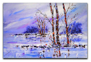 Frozen Tree Painting Canvas Print or Poster  - Canvas Art Rocks - 1