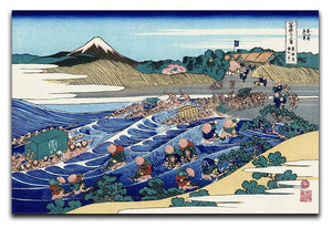 Fuji from Kanaya on Tokaido by Hokusai Canvas Print or Poster  - Canvas Art Rocks - 1