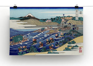Fuji from Kanaya on Tokaido by Hokusai Canvas Print or Poster - Canvas Art Rocks - 2