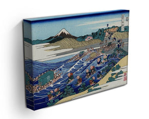 Fuji from Kanaya on Tokaido by Hokusai Canvas Print or Poster - Canvas Art Rocks - 3