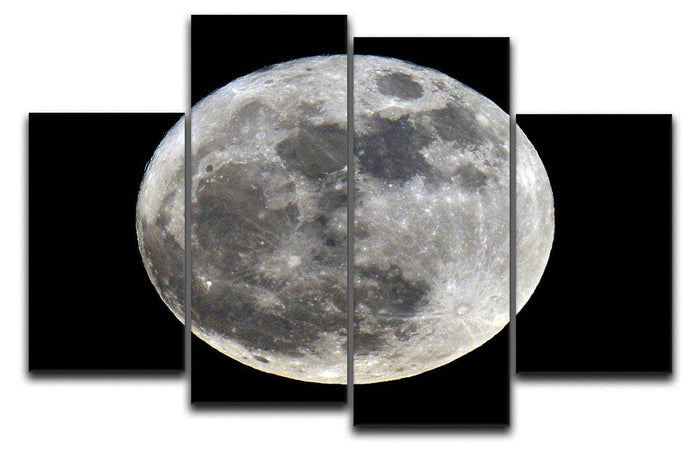Full Moon 4 Split Panel Canvas