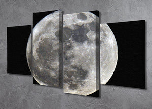 Full Moon 4 Split Panel Canvas - Canvas Art Rocks - 2